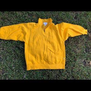Express athletic sweatshirt in mustard